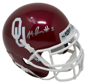 Marquise Brown Signed Schutt Oklahoma Sooners Mini-Helmet (JSA COA)