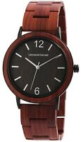 Leonardo Verrelli Damenuhr Braun Holz Analog Quarz Armbanduhr X1800190004