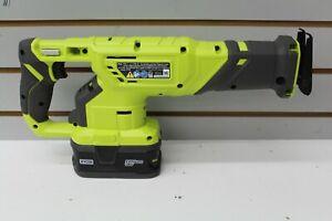 Ryobi P519 One+ 18V Li-Ion Cordless Reciprocating Saw with  4Ah Battery