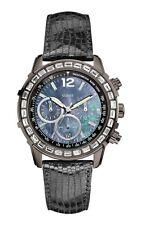 Guess reloj de mujer W0017l3 Análogo Cronógrafo cuero negro