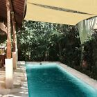 Sun Shade Sail 10x10Ft 97% UV Block Square Canopy Outdoor Patio Pool Deck Ivory