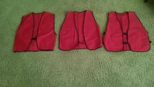Red Safety Vest - Lot of 3,