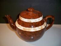 VINTAGE TEAPOT PRICE BROTHERS ENGLAND BROWN AND IVORY