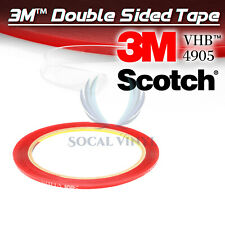 Genuine 3M VHB #4905 Clear Double-Sided Tape Mounting Automotive 2mmx10FT