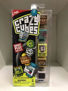 Crazy Cubes Five Pack Shoot Play Collect Spin Mater