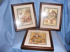 Pendelfin Set Of 3 Decoupage Pictures - Limited Edition Of 500
