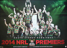 South Sydney Rabbitohs 2014 NRL Premiers NRL Grand Final Poster Unframed