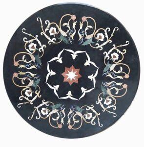 "36"" x 36"" Marble Table Top Pietradura Inlay marquetry Handmade Work"