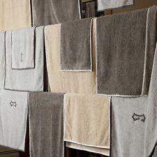 Matouk Enzo Bath Towel, Pearl/Smoke Grey - Set of 2