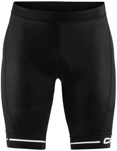 Craft Mens Rise Cycling Padded Bike Shorts Black White Elastic Breathable