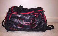 UNDER ARMOUR Storm Duffle Bag w/ Hand & Shoulder Strap / Black & Red Excellent!!