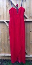 Frances Lee Vintage Marilyn Monroe sangre Terciopelo Rojo Fiesta Vestido de carrera de caballos 10 12