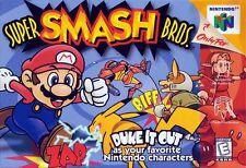 Nintendo 64 N64 Super Smash Bros Video Game Cartridge *Cosmetic Wear*