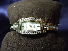 Woman's Amitron Crystal Watch with Mother of Pearl Face 75/2950 **New** B88-1163