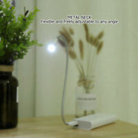USB Flexible metal neck LED Light Lamp For Computer Notebook Laptop PC Reading