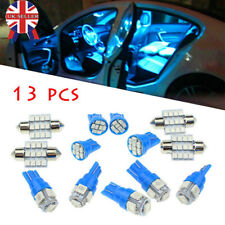 13× Car Interior Light Blue LED Bulbs For Dome License Plate Lamps Auto Kit 12V