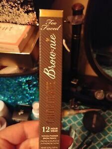Too Faced Chocolate Brownie 12-Hour Cocoa Powder Brow Pencil deep brown NIB