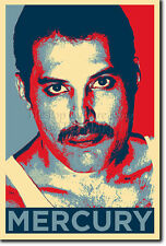 FREDDIE MERCURY ART PHOTO PRINT (OBAMA HOPE PARODY) POSTER GIFT FREDDY QUEEN