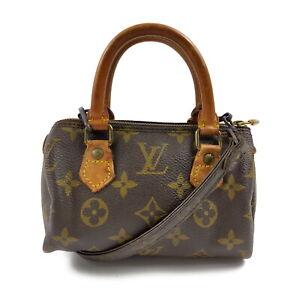 Louis Vuitton LV Hand Bag M41534 Mini Speedy Browns Monogram 1606306