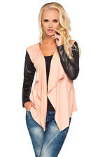Ladies Waterfall Shrug Long Sleeve Blazer Cardigan Bolero Plus Sizes 8 - 18 8079