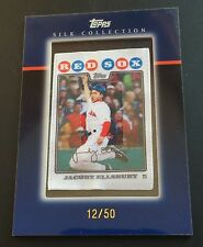 JACOBY ELLSBURY 2010 Topps SILK COLLECTION Framed SSP #d /50 Red Sox Yankees
