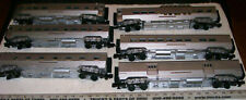 6 MTH O SCALE READING COMPANY STREAMLINED LIGHTED PASSENGER CARS WITH INTERIORS