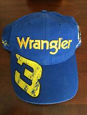 2010 Dale Earnhardt Jr & Sr Big Yellow #3 WRANGLER Jeans hat cap NEW NWT Blue