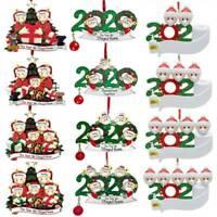 2020 Xmas Christmas Tree Hanging Ornament Family Ornaments Santa Claus Decor DIY