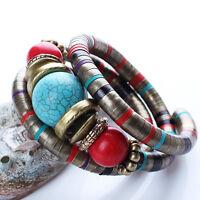 Trendy Tibetan style Jewelry Colorful Turquoise Tibet Bangle Bracelet Women Gift