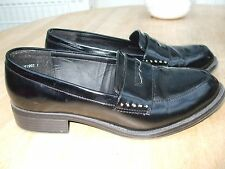 Black Wide Fit  Loafers- NEW LOOK- Size 6