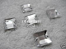 Strass Glitzersteine aufnähen  Aufnähsteine Quadrat ca.12mm Crystal AAA Qualität
