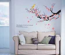 Pink Cherry Blossom Birds Wall Decor Large Huge Home Decoration Flowers AY608