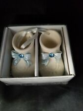 Lefton Bisque Personalized Porcelain Boy/Girl Baby Shoes