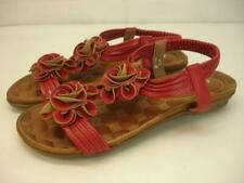 Women's 7.5 8 38 Patrizia by Spring Step Nectarine Red Slingback Sandals Flowers