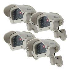 4X Solar Dummy Security Camera Fake Flashing Light IR LED Home CCTV Surveillance