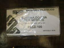 Bustina Doppia Eco / Bustine per monete Periziate a due posti 45x45mm da 100 pz.