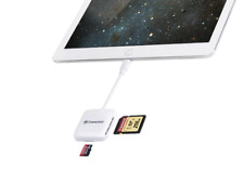 Transcend Apple OTG Card Reader RDP9 for iPhone, iPod & iPad TS-RDA2W - White