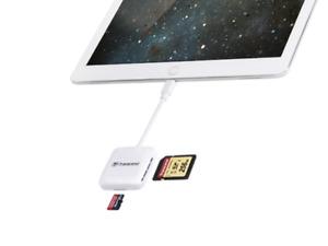 Transcend Apple OTG Card Reader RDP9 for iPhone, iPod & iPad TS-RDA2W - White