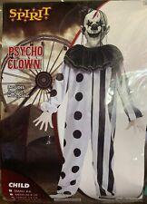 New Spirit Killer Psycho Clown Halloween Costume Child Small 4-6 Mask Jumpsuit