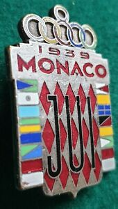 1939 Monaco World Student Games large logo pin badge