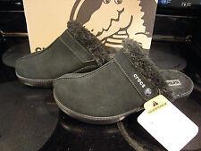 Brand New Womens Black Crocs Cobbler Leather Clog Slide On Shoes, Size 5