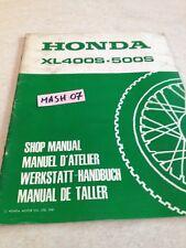 supplément manuel atelier Honda XL400S XL500S XLS 400 500 Shop manual éd. 81