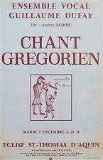 Affiche Chant Gregorien eglise Saint-Thomas d'Aquin ensemble vocal P 745