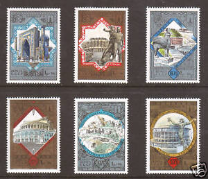 Russia Sc B121-B126 MNH. 1979 Moscow '80, complete set, VF