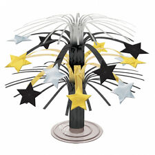 Stars Cascade Mini Table Centrepiece Black Silver Gold Table Decorations FREE PP