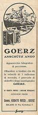 W2011 Macchina Fotografica GOERZ Anschutz Ango - Pubblicità del 1925 - Advert