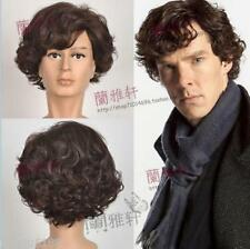 Detective Sherlock Holmes Dark Brown Short Curly Cosplay Wig88