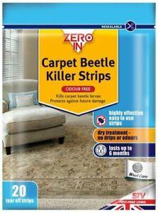 Zero In ZER974 Carpet Beetle Killer Strips 20 Strips