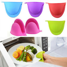 2* Silicone Heat-Resistant Oven Baking Glove Pot Tool Holder Kit at Random color