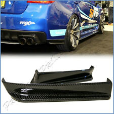 Fit on 2015+ SUBARU STI WRX Sedan Carbon Fiber Rear Bumper V Look Lower Side Lip